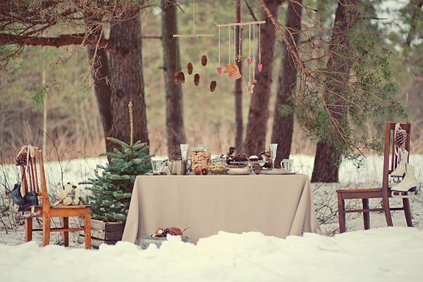 vintage winter wedding � no235l � hiver blanc noel