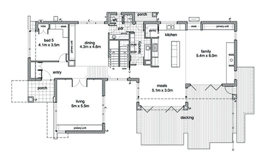 Modern Side Yard Oriented Plan By Architect Leon Meyer