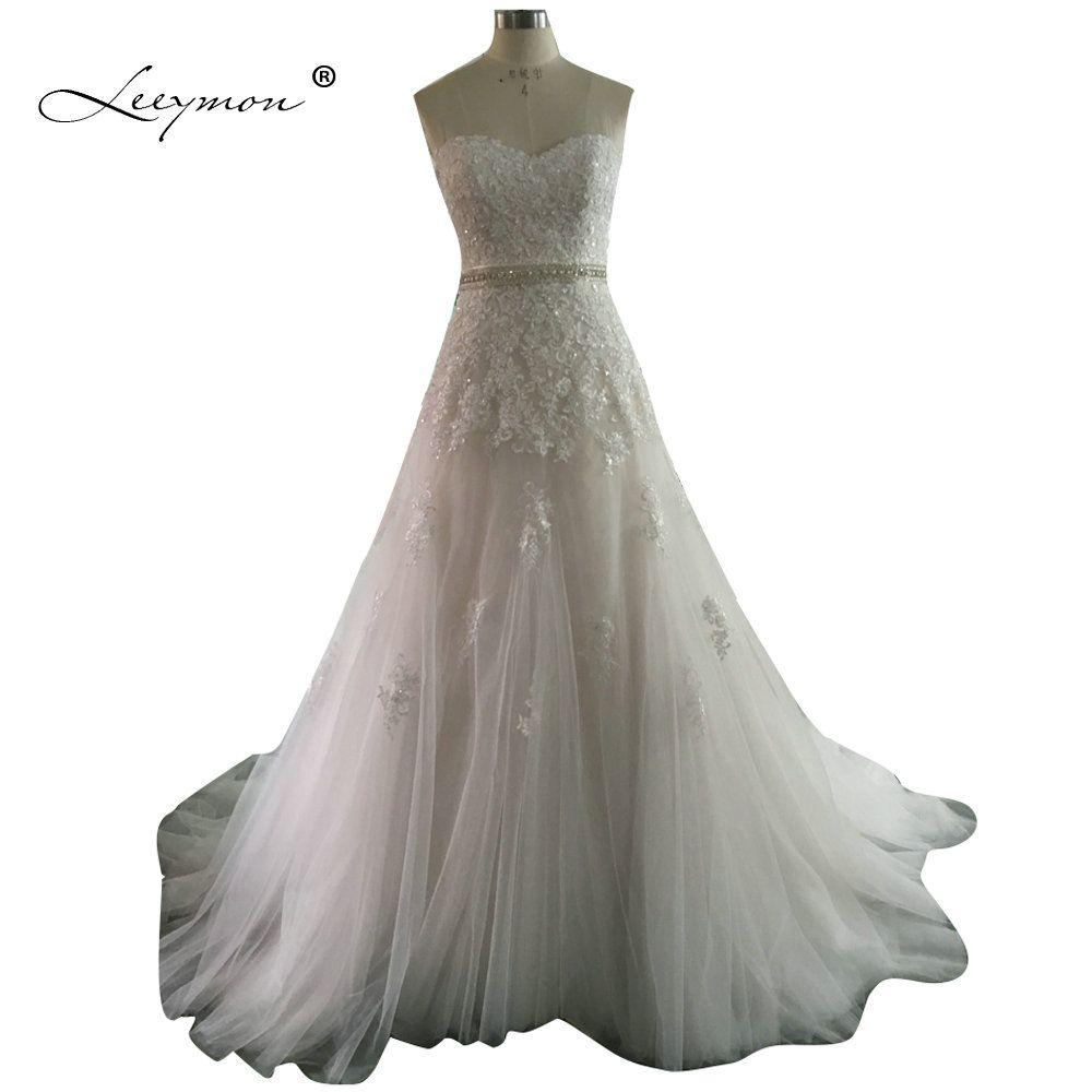 Silver wedding dresses plus size  Click to Buy ucuc Leeymon Vintage Lace Wedding Dress Plus Size Wedding