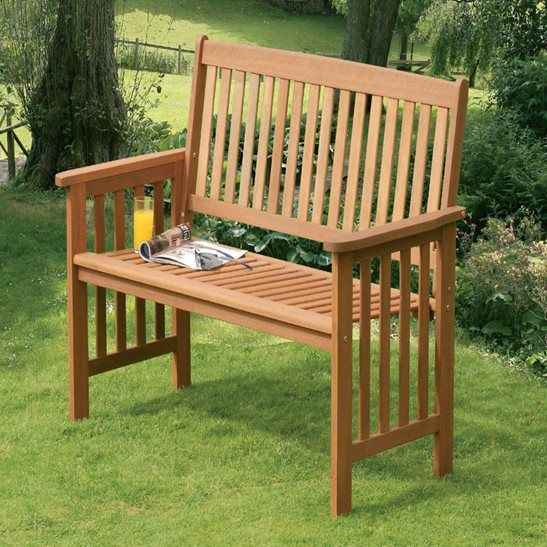 The classic 2 Seater Wooden Garden Bench adds a traditional feel to ...
