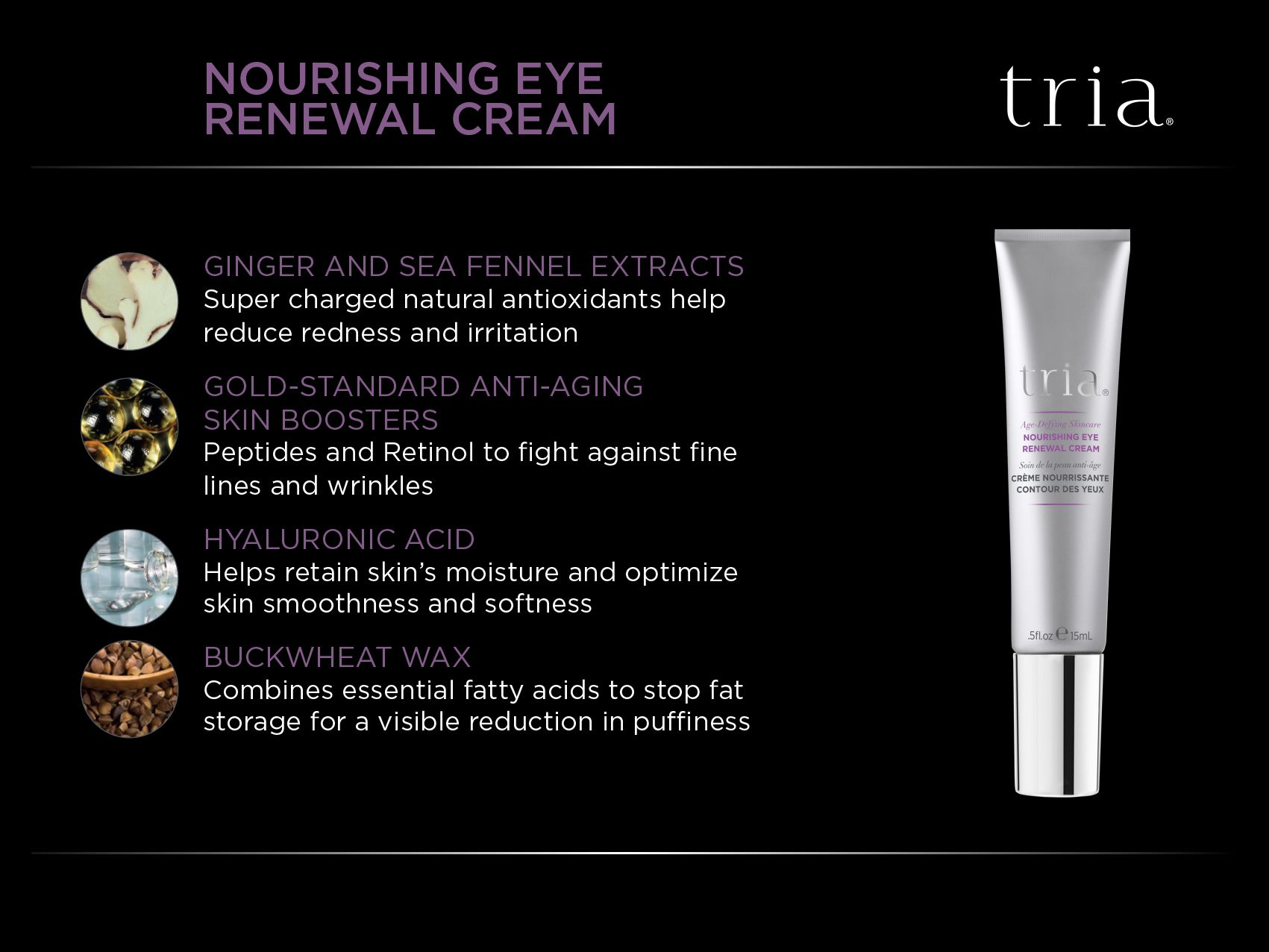 Triabeautyus nourishing eye cream soothes skin following laser