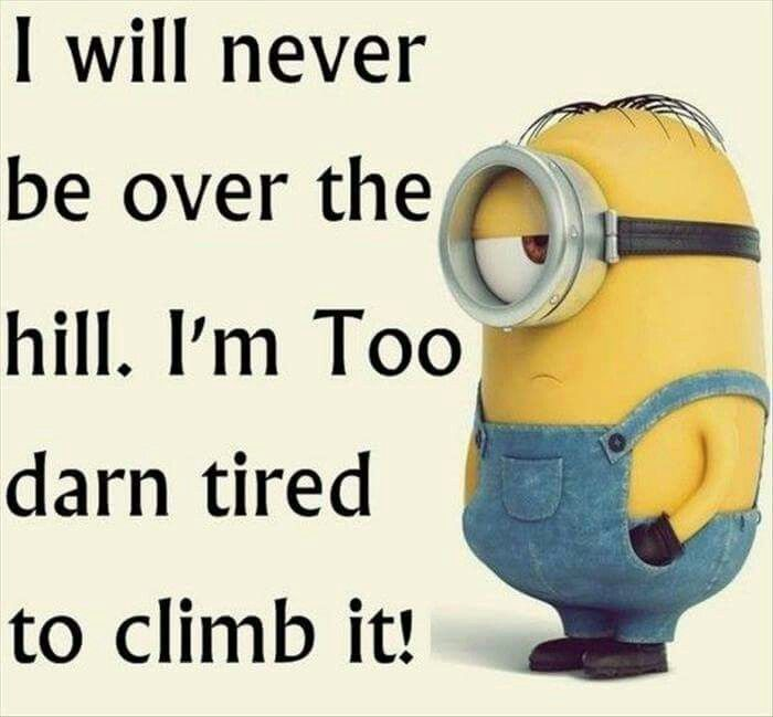 Over The Hill Minions Funny Funny Minion Quotes Funny Minion Memes