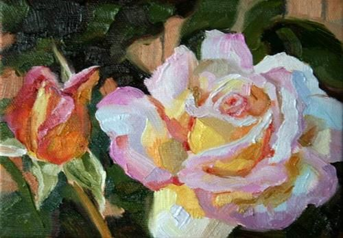 Early Summer Rose - Original Fine Art for Sale - © Kathryn Gray