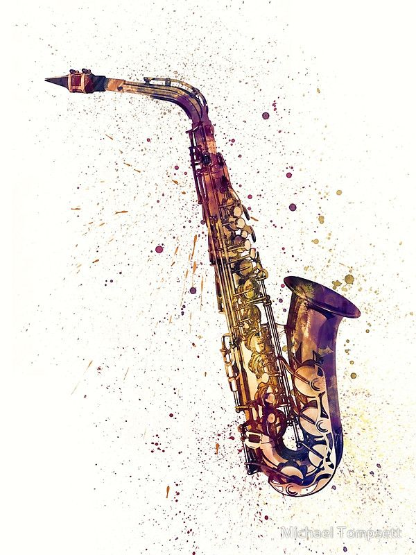 saxophone abstract watercolor m sica pinterest. Black Bedroom Furniture Sets. Home Design Ideas