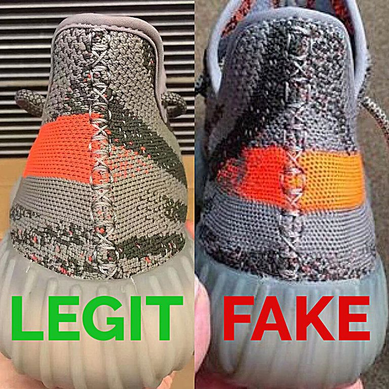 adidas yeezy fake vs real