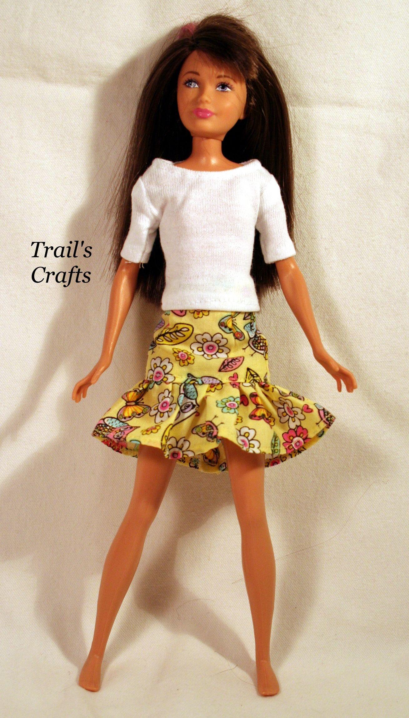 modest barbie dolls clothing templates | New Handmade Dress For ...