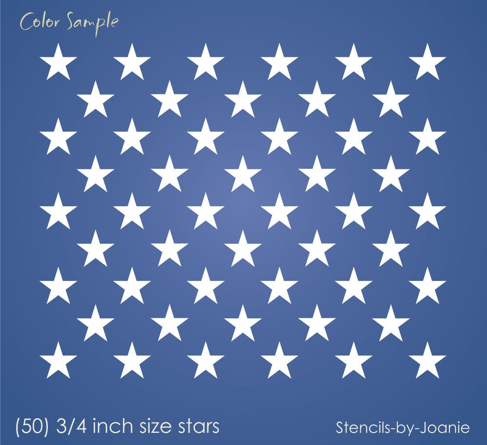photograph about American Flag Star Template Printable named Information and facts concerning Stencil (50) 3/4\