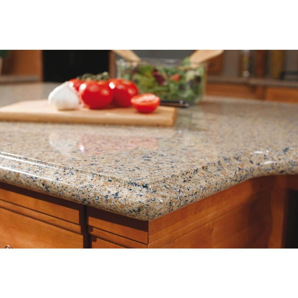 Image On Quartz Countertop Sample in Blue Sahara SS Q The