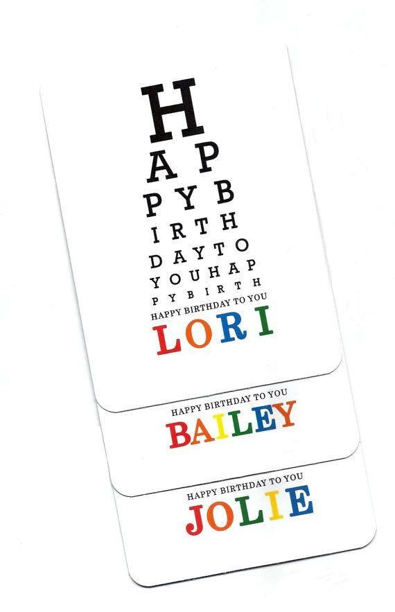 Eye Chart Cardhappy Birthdayeye Chartstommeper Goodseye