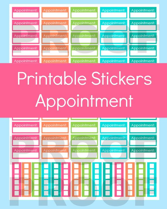 Appointment Stickers Appointment Planner Stickers By Commandcenter