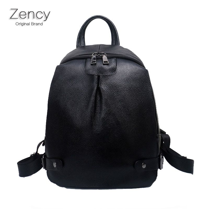 b516ea562d4c New Arrival Luxury Famous Brands ZENCY Women Real Genuine Leather Backpack  Soft Cow Leather Cowhide Backpack