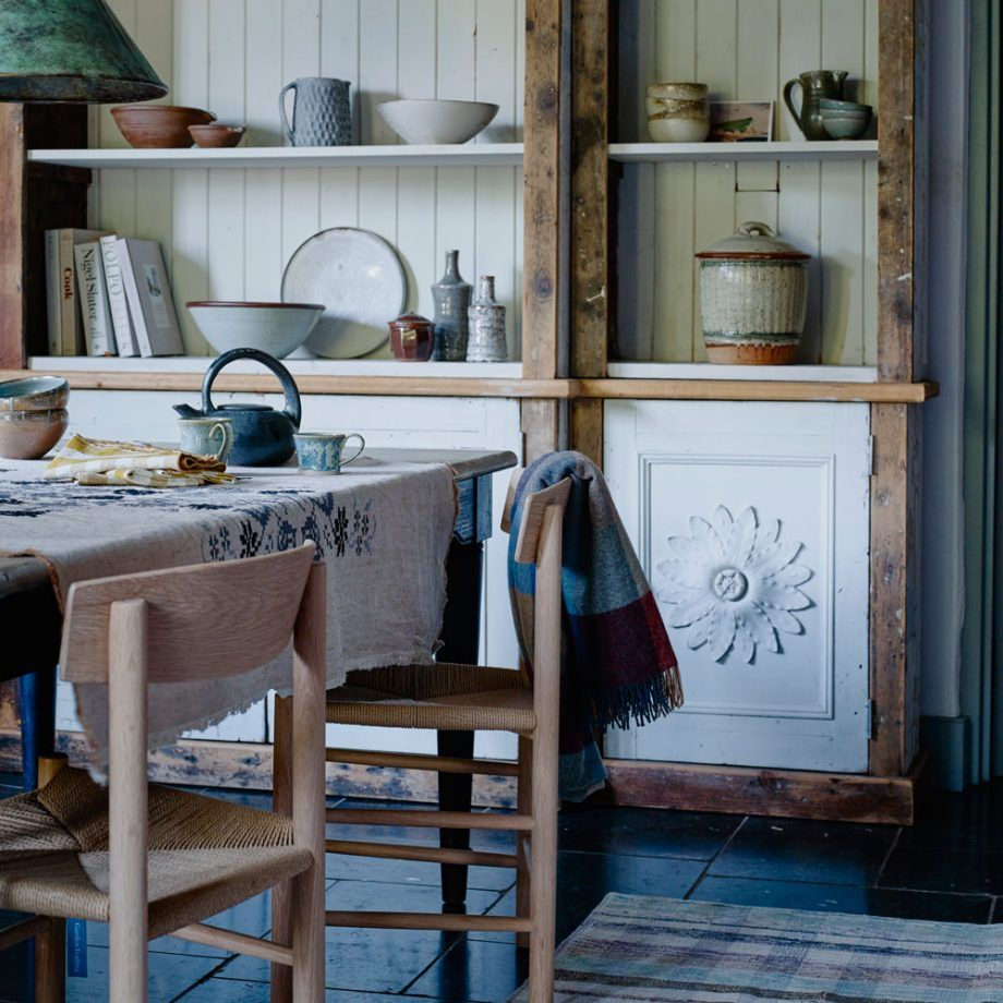 Rustic farmhouse kitchen in Scottish cottage Rustic
