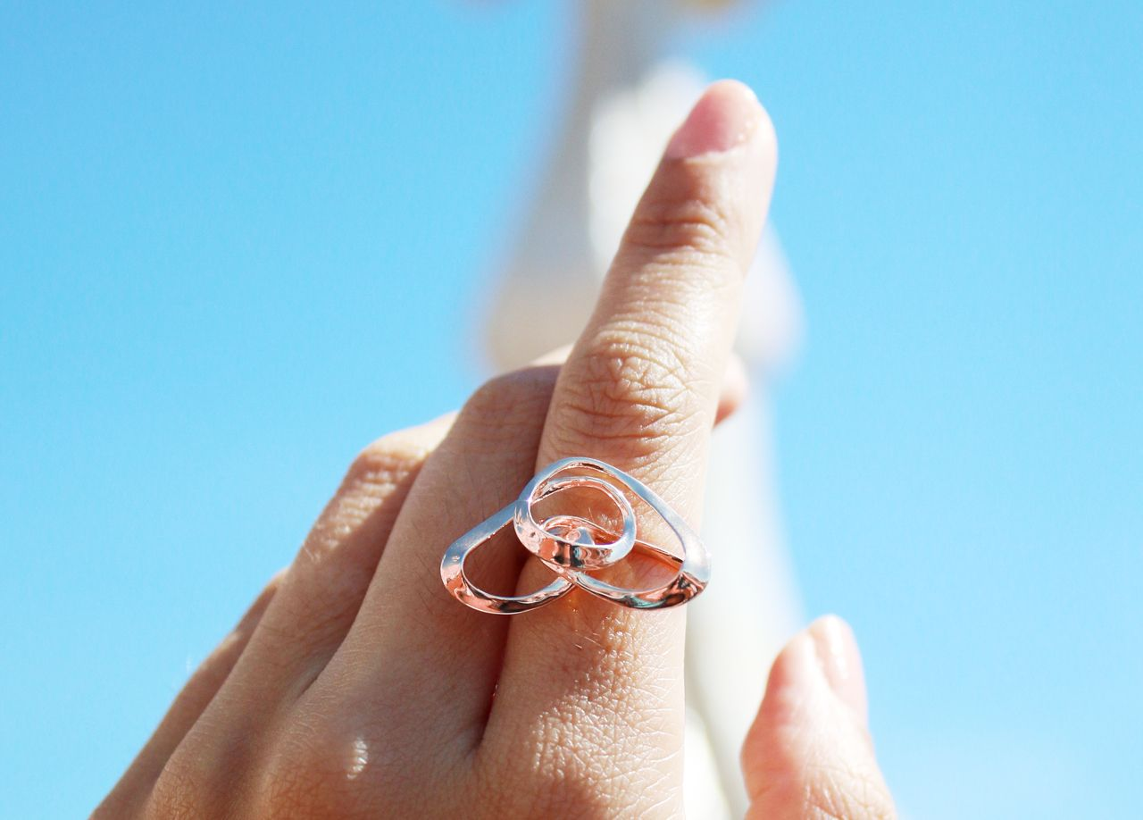 Wire Heart Ring - Sterling Silver with Rose Gold Plating - Vulcan ...