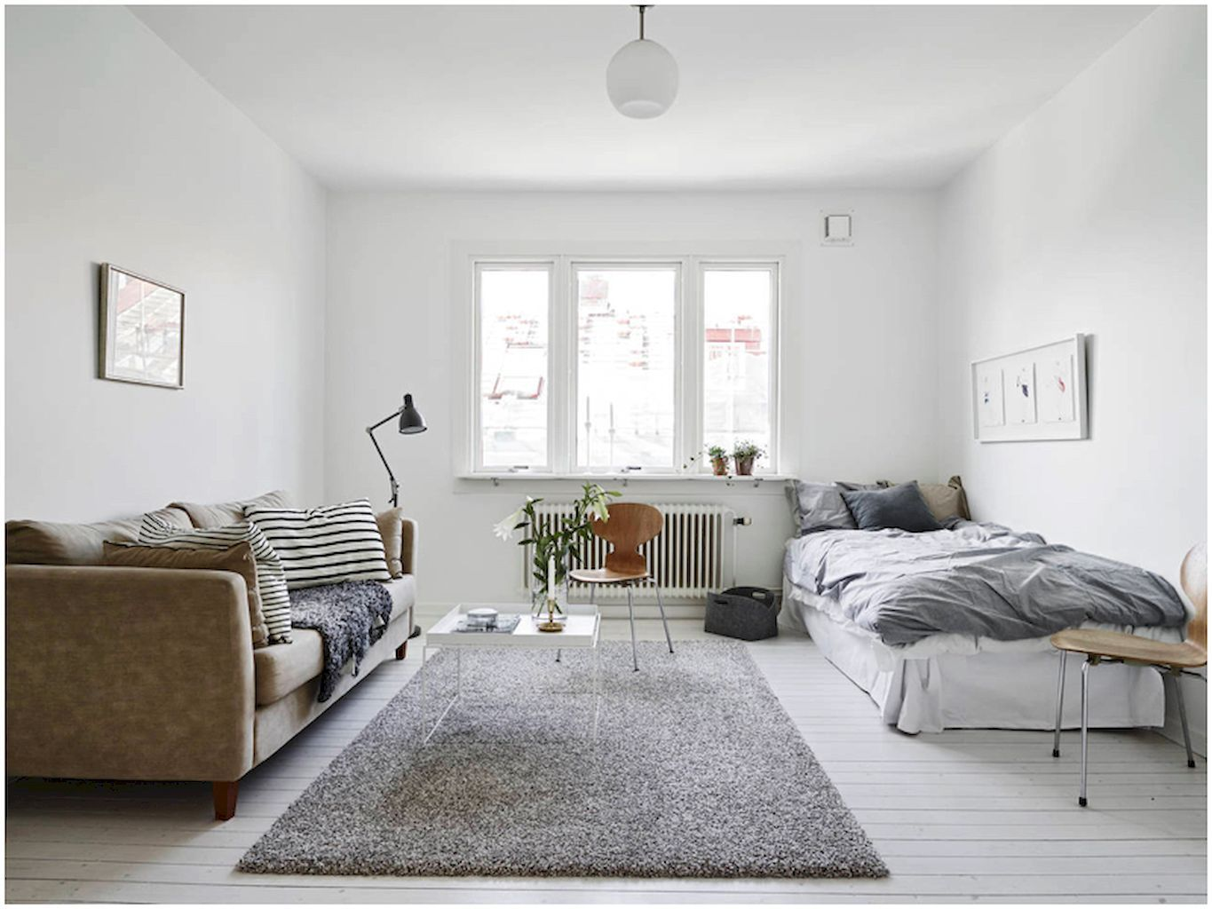 Awesome 60 Cool Studio Apartment with Scandinavian Style Ideas on A ...