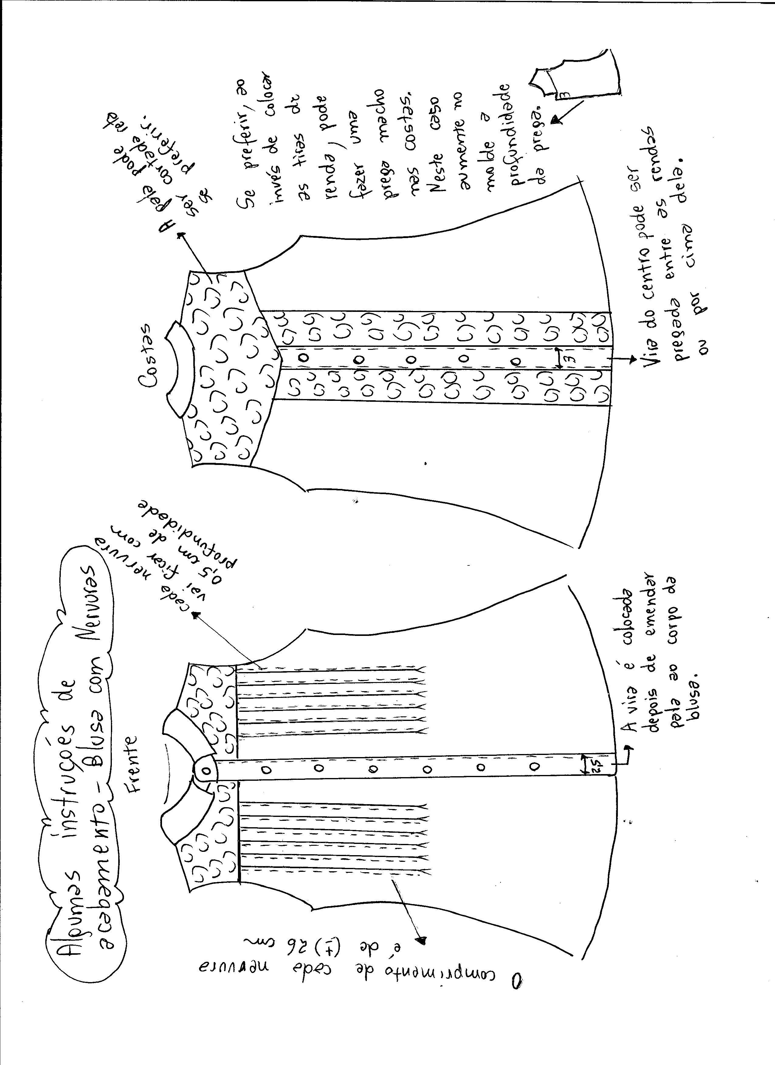 Blusa com nervuras | PATRONES COSTURA | Pinterest | Costura, Molde y ...