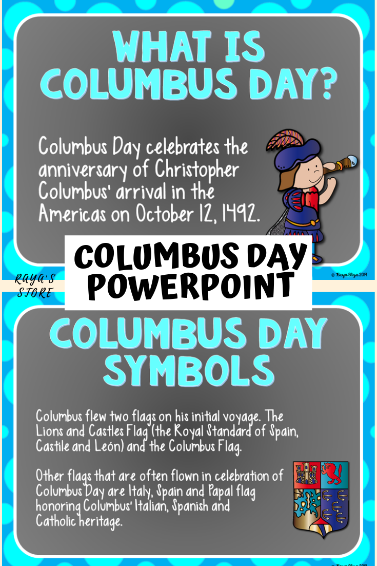 Columbus Day Christopher Columbus Visual Learning Tools Powerpoint Lesson Visual Learning