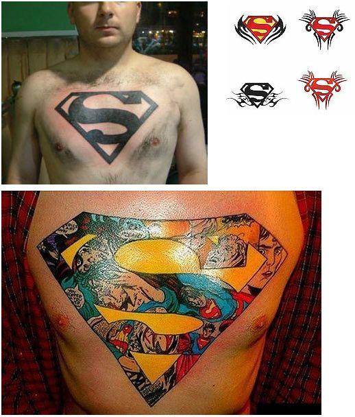 Great Superman Chest Tattoo Ideas Chest Piece Tattoos