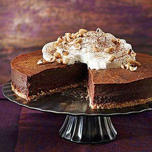 잔두야(헤이즐넛과 다크초콜릿을 섞은 이탈리아 전통 초콜릿) 무스 케이크