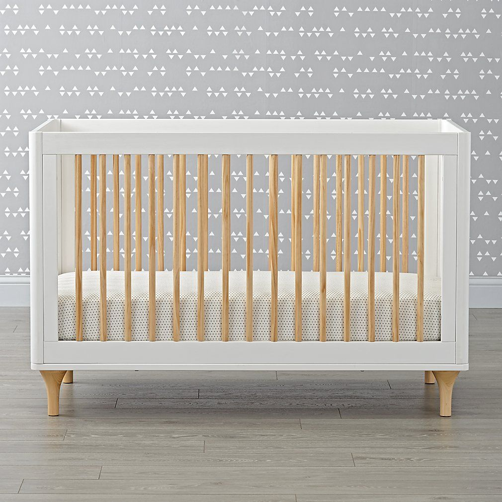 Babyletto Lolly White Natural Convertible Crib Cribs Baby