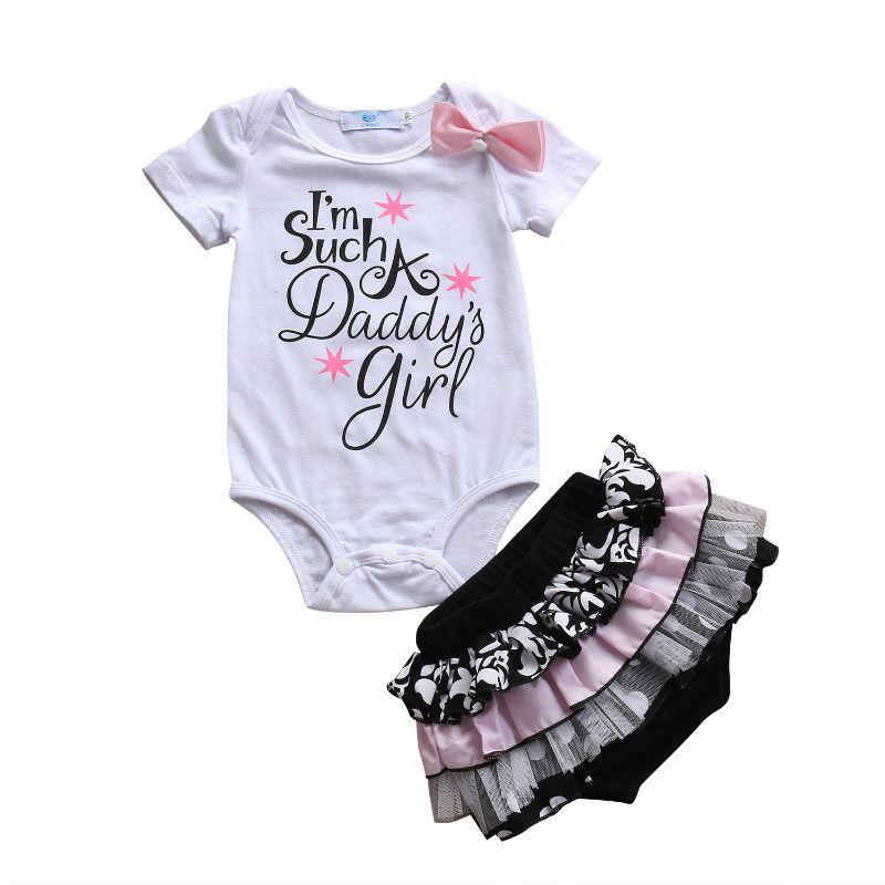 2d38e8a7c 2PCS Newborn Infant Baby Girl Cotton Romper Polka Dot Lace Shorts ...