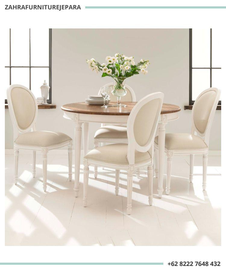 Meja Makan Bundar Duco Putih Meja Makan 4 Kursi Meja