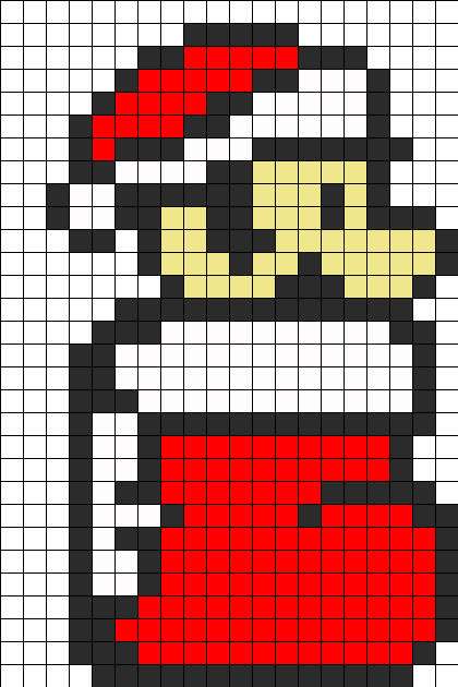 mario christmas bead pattern- for when I get skin colour beads XD ...