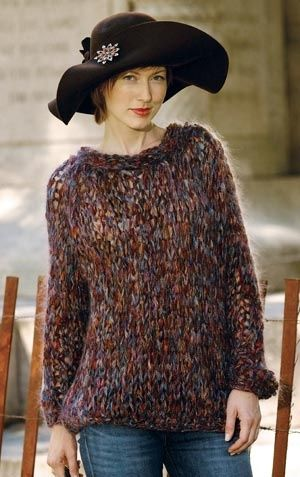5 Hour Raglan Sweater With Size 50 Knitting Needles Cantop