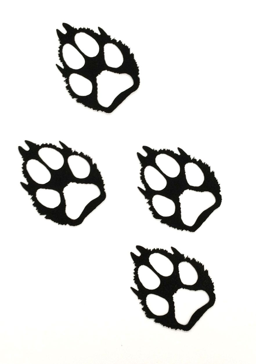 Wolf Paw Print Clip Art Google Search Shapes Line