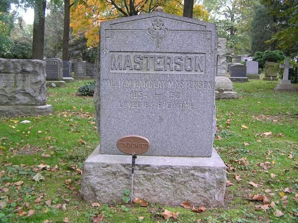 Bat Masterson Memorial stones, Headstones
