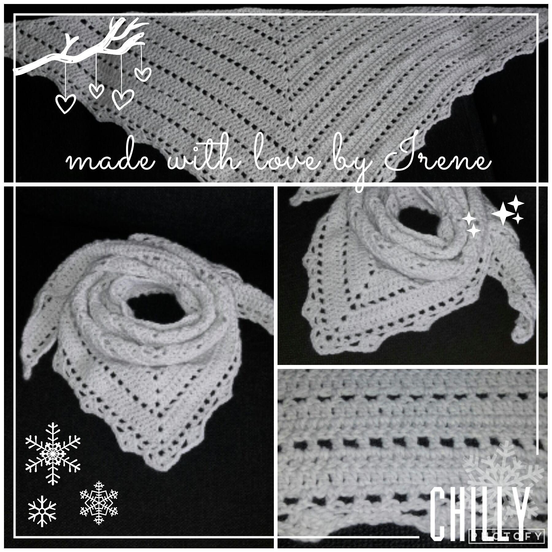 Vaak Irene Haakt: Penelope sjaal driehoek gehaakt gehaakte haken #BG69