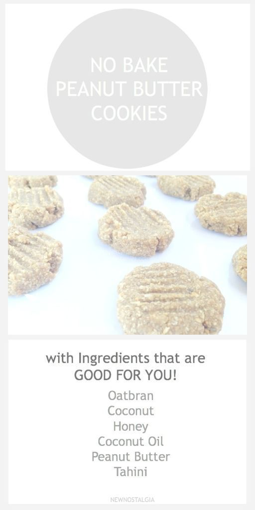 No Bake Peanut Butter Cookies - Easy to throw together, good-for-you ingredients. #raw #peanutbutter #cookies