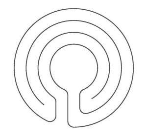 a 3 circuit knidos labyrinth labyrinths pinterest gardens and rh pinterest com