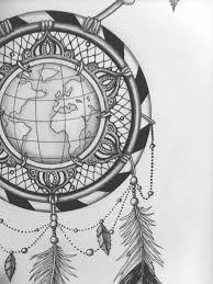 Tatouage thème voyage et catch dreamer