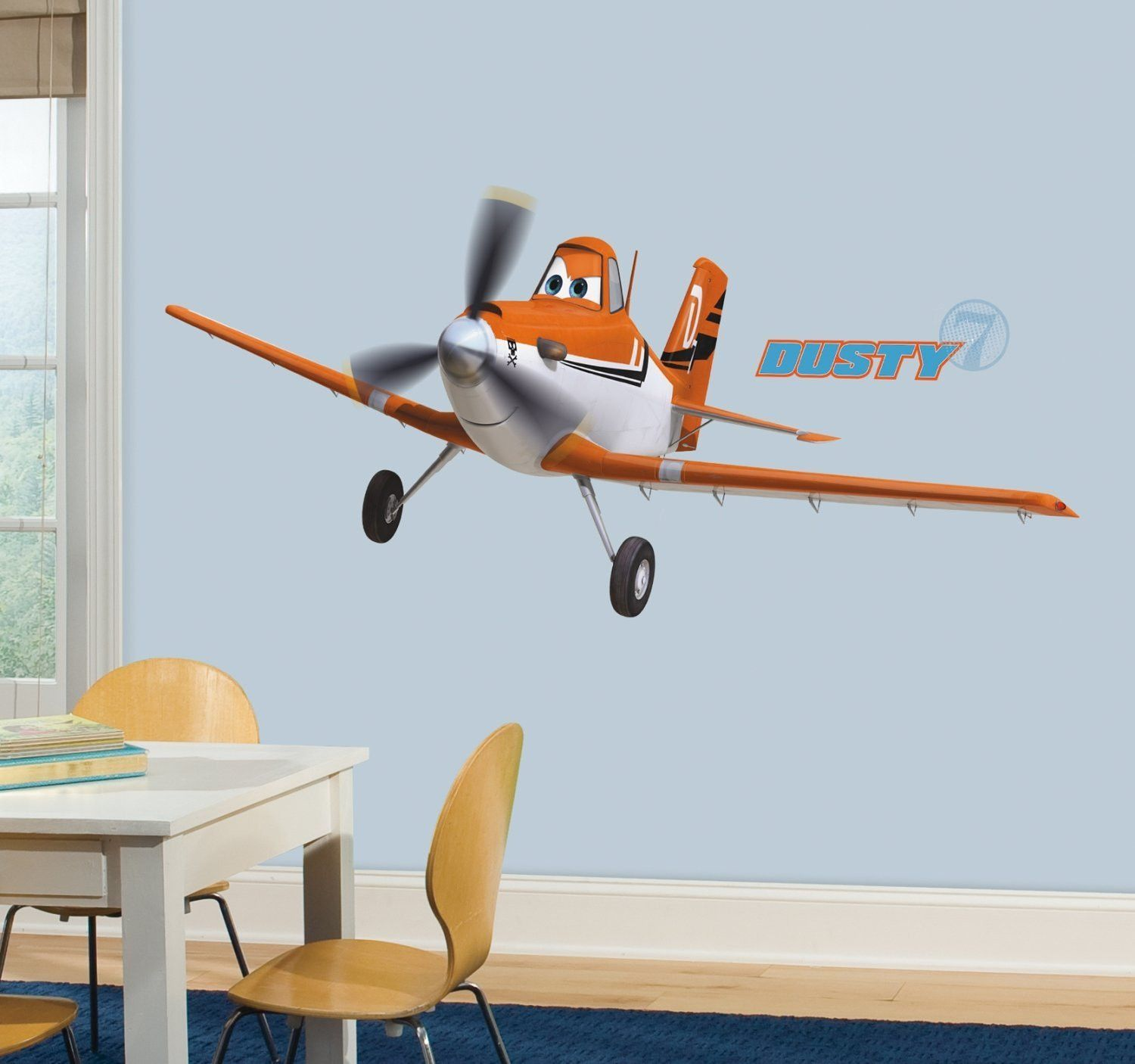 Roommates Planes Dusty Crophopper Peel And Stick Giant Wall Decals, 1-Pack