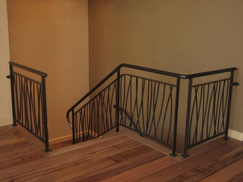 Wrought iron loft railing ideas interior stairs and for Interior iron railing designs