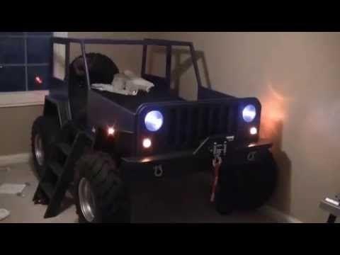 Kids Jeep Bed Youtube Jeep Bed Kids Jeep Jeep