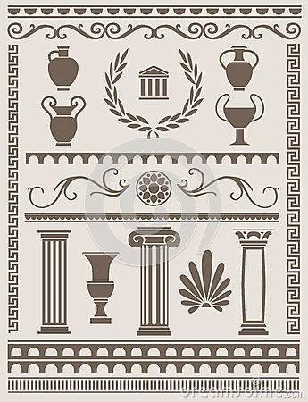 thumbsdreamstimecom x ancient greek roman design elements - Ancient Rome Designs