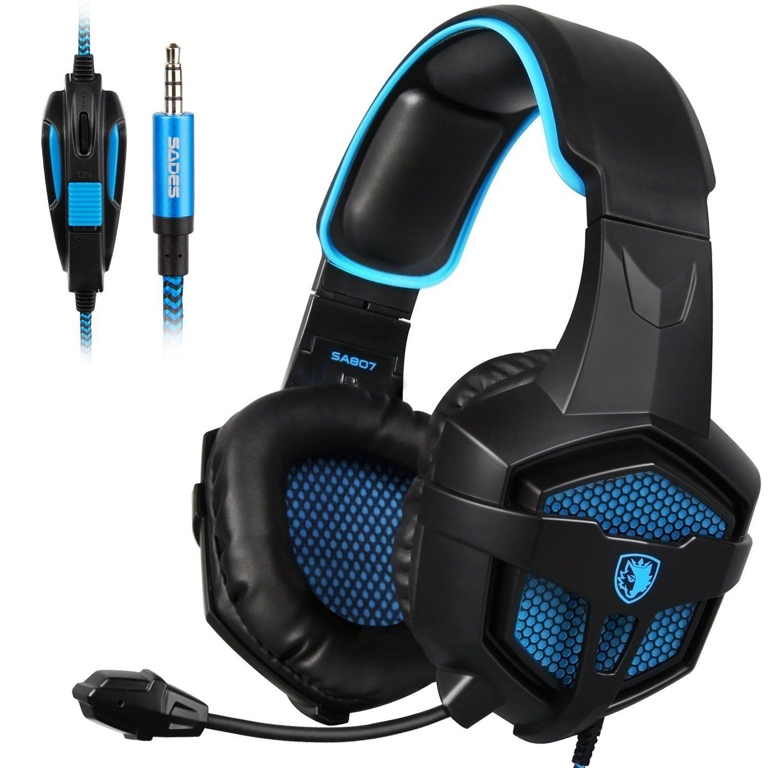 Amazon.com: SADES New SA807S Over-ear Stereo Gaming Headset Headband  Headphones with