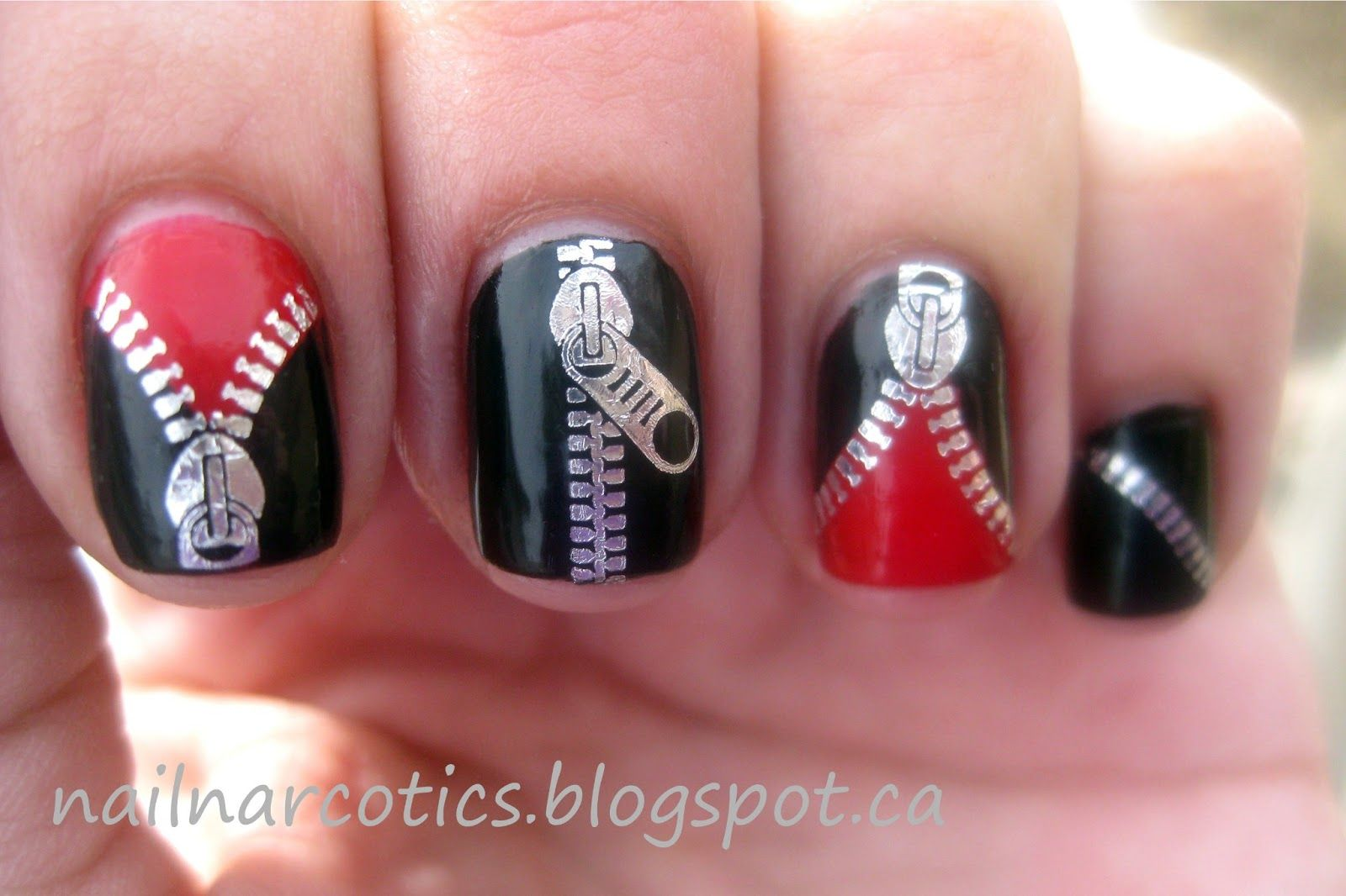 Nails zipper water decalsbornpretty review fingernail designs