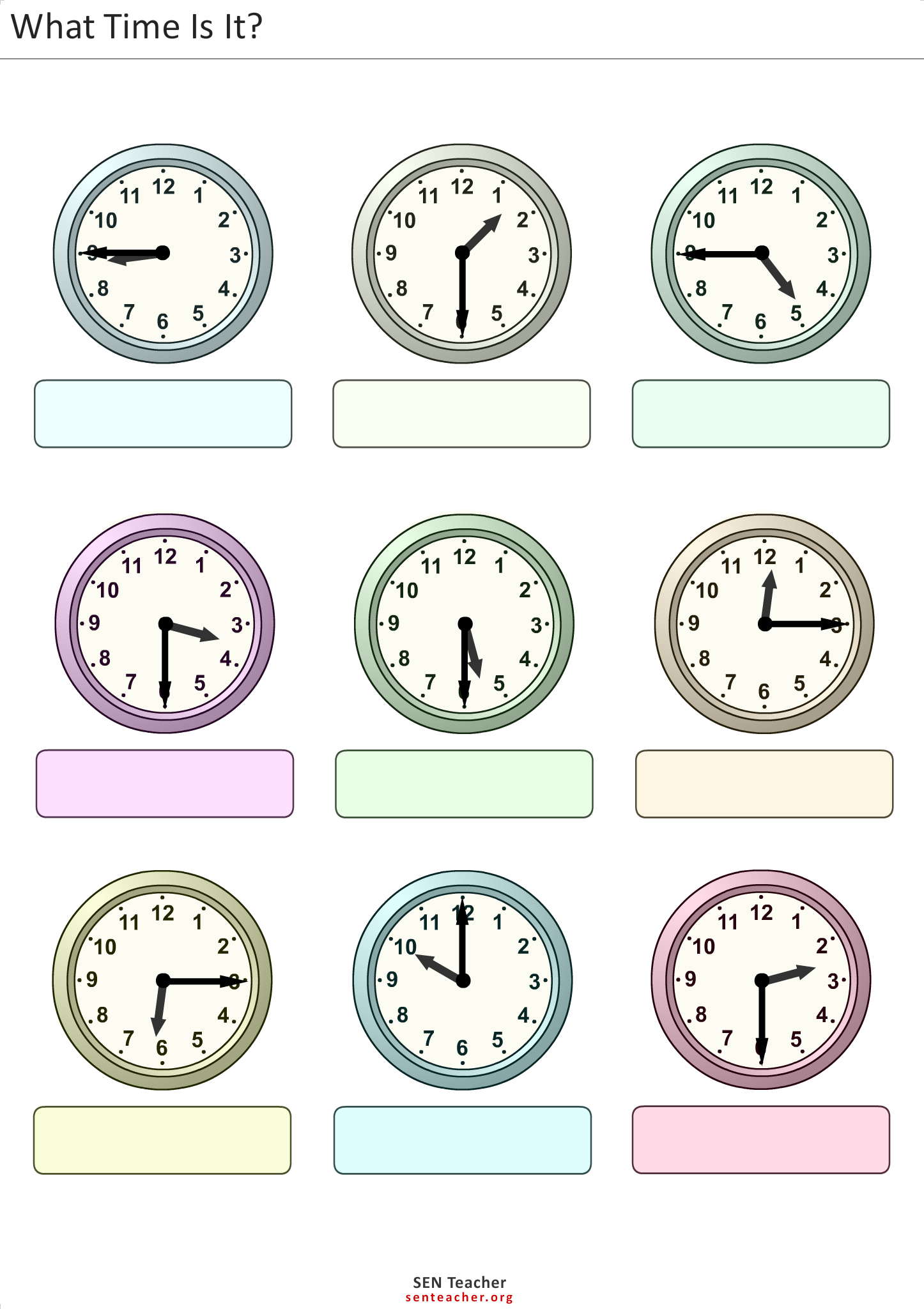 Decorations And Accessories Read Clocks Free Customisable