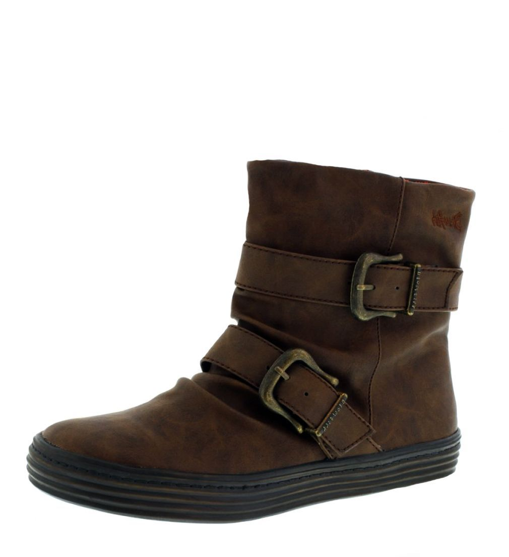Blowfish Octave Coffee Brown Women's Flat Ankle Boots