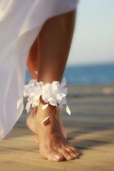 Ankle cuff & thyrsi barefoot sandal beach wedding barefoot | Etsy
