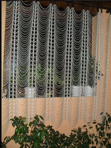 As receitas de crochê: cortina de correntinhas em crochê ...