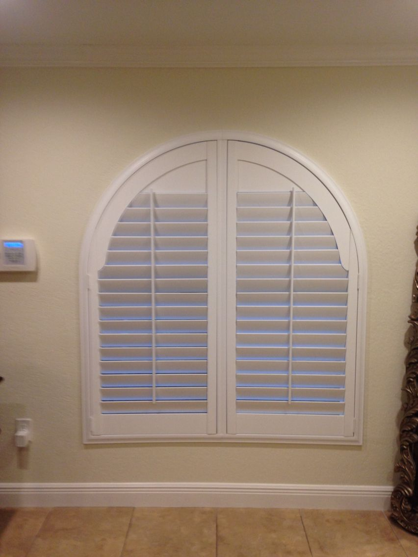 60 X 60 Arch Window With 3 5 Louver Plantation Shutters Plantation Shutters Pinterest