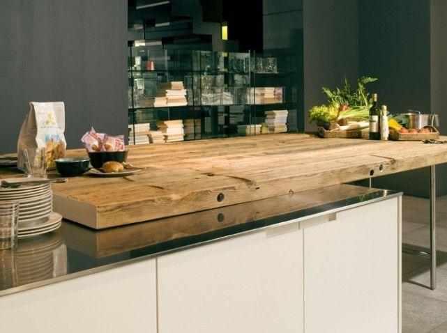 choisir les mat riaux pour son plan de travail elle d coration bois brut massif et etre belle. Black Bedroom Furniture Sets. Home Design Ideas