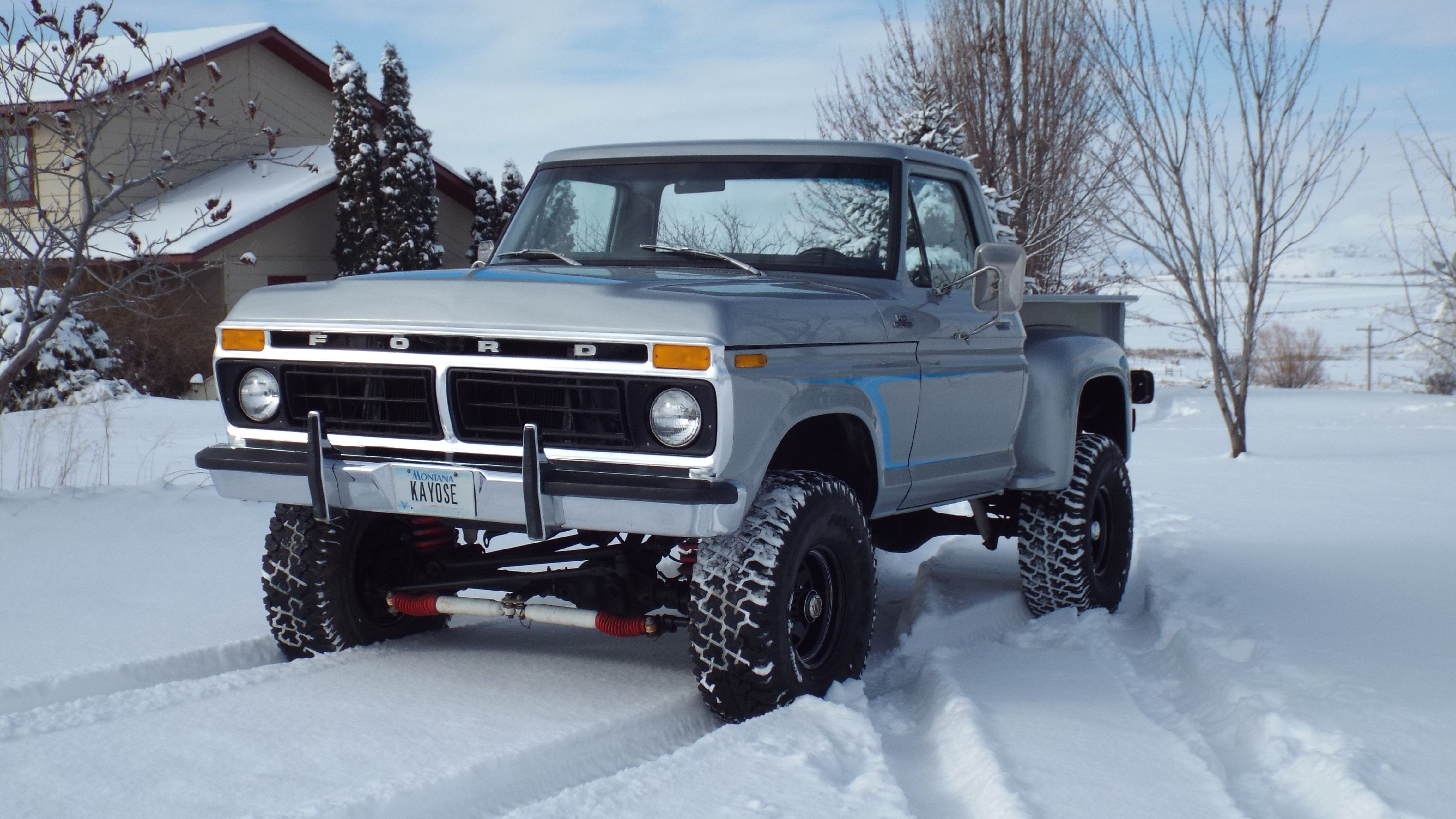 1977 ford short box step side truck