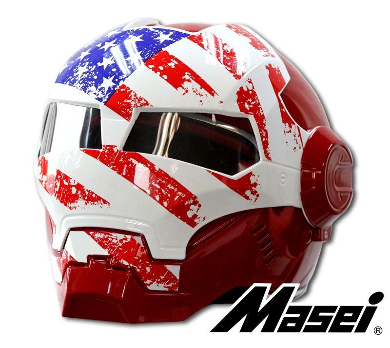 A Pre-Order Of Masei US Patriots 610 Motorcycle Harley Chopper DOT Helmet