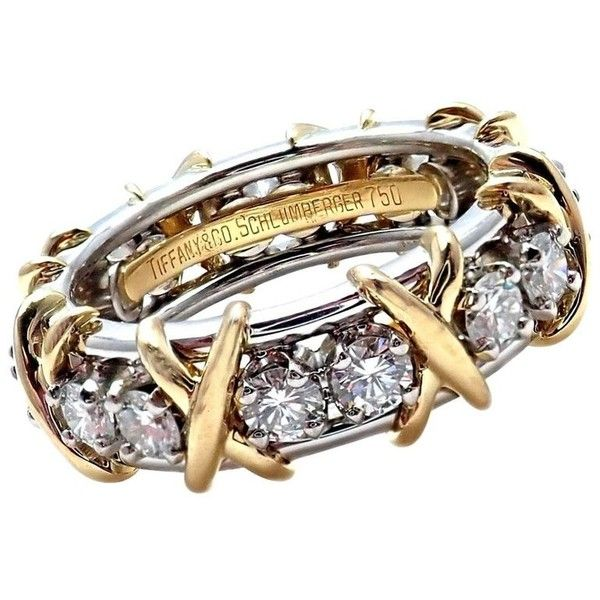 c909e22b2 Tiffany & Co. Jean Schlumberger 18 Karat Gold Platinum Diamond Ring ...
