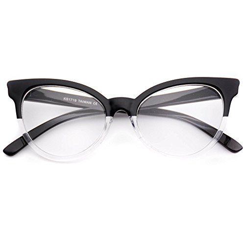 c545021b0f8 WearMe Pro NonPrescription Cat Eye Clear Lens Glasses for Women    For more  information