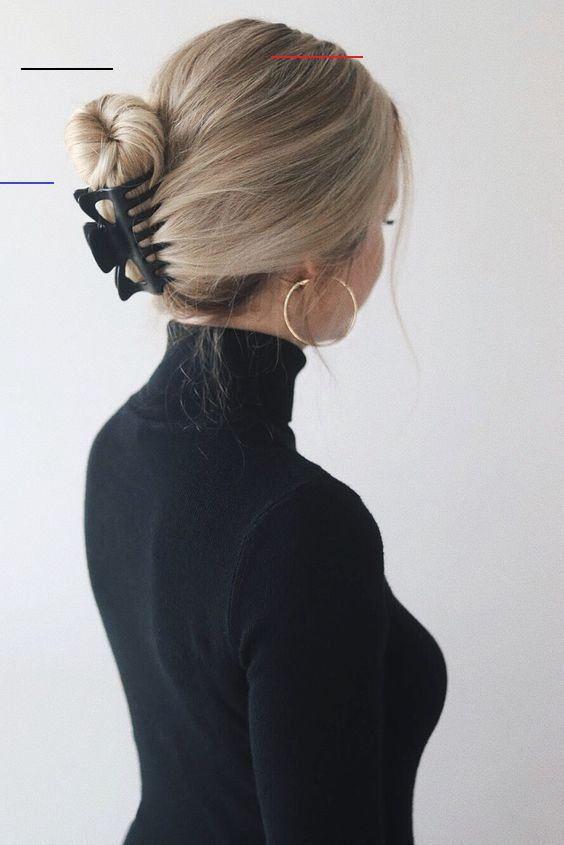 #arbeit #die #einfache #frisureinfach #frisuren #fur #topkerjacom 20 Einfache Frisuren für die Arbeit<br>